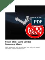 Steam Blokir Game Dewasa Sementara Waktu