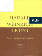 Fragmento de Leteo, de Harald Weinrich