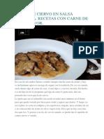 Carne de Ciervo en Salsa Monteña