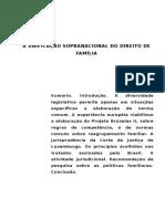 A Unificação Supranacional Do Direito de Família (1)