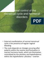 kerja hormon pada siklus menstruasi dan kelainan hormonal
