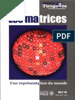 [bibliothèque tangente hors-série n°44] Collectif - Les matrices _ une représentation du monde (2012, POLE)