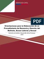 Actualización 2018 Orientaciones Para La Elaboración de Un Procedimiento de Denuncia y Sanción Del Maltrato Acoso Laboral y Sexual