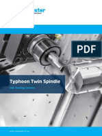 NEW Colchester Typhoon Twin Spindle CNC Turning Centre Brochure 2018