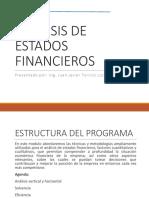 1. Analisis de Estados Financieros - Presentacion