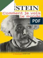 Albert Einstein-Comment je vois le monde-Editions Flammarion (2009).epub