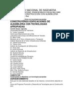Universidad Nacional de Ingenieria- Proceso de Construccion -Dosificacion de Materiales - Peru