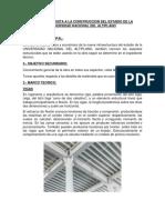 Informe de Visita a La Construccion Del Nuevo Pabellon Ingenieria Topografica y Agrimensura