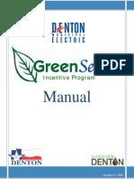 GreenSense Incentive Program Manual 2017