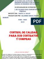 Control de Calidad Para Sub Contratos y Compras
