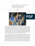 Déclaration de Bruxelles Sur La Sécurité Et La Solidarité Transatlantiques