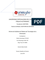 Informe de Auditoria de Sistemas Roberto, Emir y Diego