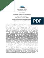 Síntese Reflexiva Sobre o Capítulo 2 Do Livro a Pedagogia Da Autonomia