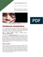 Violência Doméstica_ Sinais de Um Amor Maldito