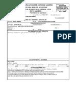 Modelo de nota fiscal de Chaveiro