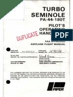 MANUAL POH-PA-44-180T-1
