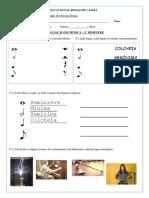2° ANO - QTD 21 - AVALIAÇÃO DE MÚSICA