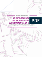 La estructuración del sector cultural gubernamental en México