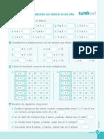 Ficha Nivel Cero Multiplicación Con Números de Una Cifra