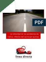 La velocidad en los accidentes de tráfico Efectos del carné por puntos