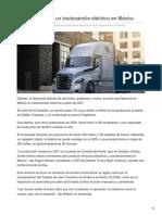 Daimler fabricará un tractocamión eléctrico en México.