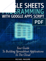 Google Spreadsheet Programming