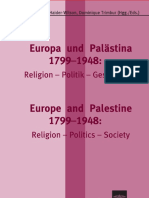 Europa Und Palästina 1799–1948 Religion–Politik