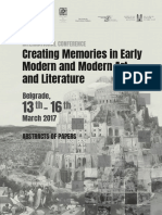 Creating Memories in Early Modern and Mo