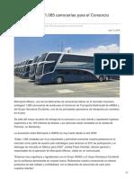 Marcopolo alista 1,085 carrocerías para el Consorcio IAMSA