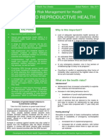 Drm Fact Sheet Sexual and Reproductive Health