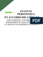 Statuts Personnels Et Accords Bilatecc81raux