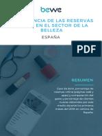 Reporte Importancia de Reservas Online España
