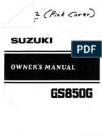 1982 GS850G Owners Manual