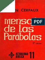 Cerfaux, Lucien - Mensaje de Las Parábolas
