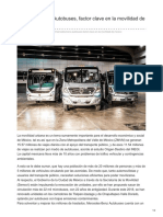 Mercedes-Benz Autobuses, factor clave en la movilidad de México