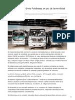Aporta Mercedes-Benz Autobuses en Pro de La Movilidad Del Pasajero