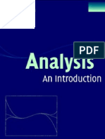 Analysis an Introduction