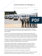 Otra Entrega de Camiones Workline de Volkswagen, A Heineken
