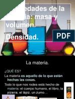 Propiedades de La Materia Masa Volumen y Densidad
