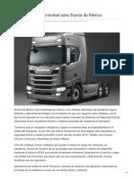 La seguridad es prioridad para Scania de México
