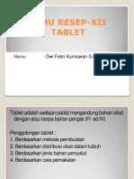 Ilmu Resep-Tablet XII