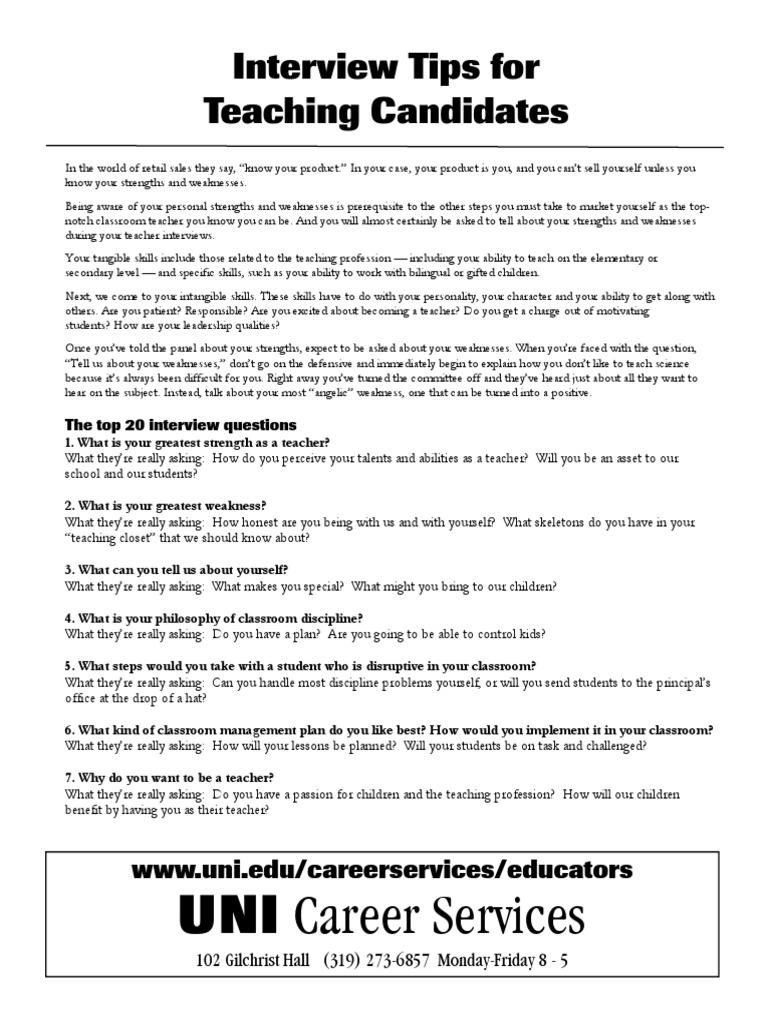interview teachingtips teachers classroom management