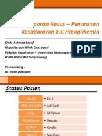 Laporan Kasus – Penurunan Kesadararan EC Hipoglikemia.pptx