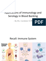 Lecture 2 - Applications of Immunology and Serology in Blood Banking (MAAM ELA)