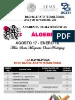 Encuadre Algebra 2017-2018