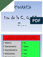 Ortografia C Q CC Z 3ESO