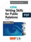 Effective Writing Skills for Public Relations