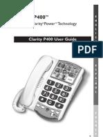 Clarity P400 Manual