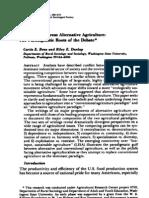 Agricultura Convencional vs Agricultura Alternativa