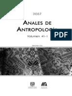 Las Piedras de Moler de Los Altos Orientales de Chiapas, México - Maria Elena Ruiz Aguilar - Anales de Antropología - Vol. 41 - No. 1